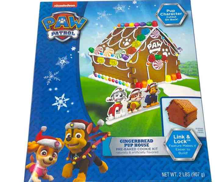 Paw Patrol Gingerbread Pup House Pre-Baked Cookie Kit