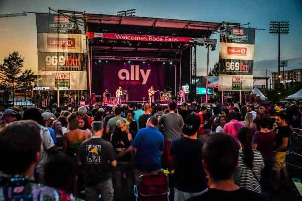 circle k Speed Street concert in Charlotte part of 600 festival