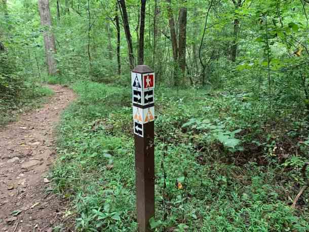 Ribbon Walk trail marker