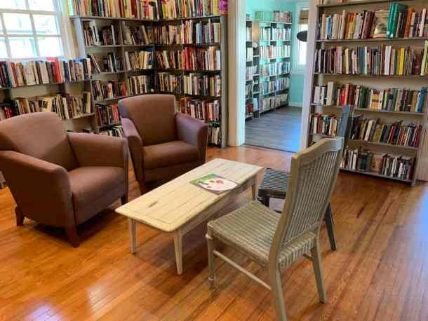 Interior of Editions Coffee and Used Bookstore