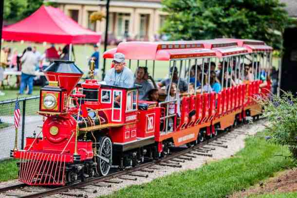 Rotary Express train in village park in kannapolis