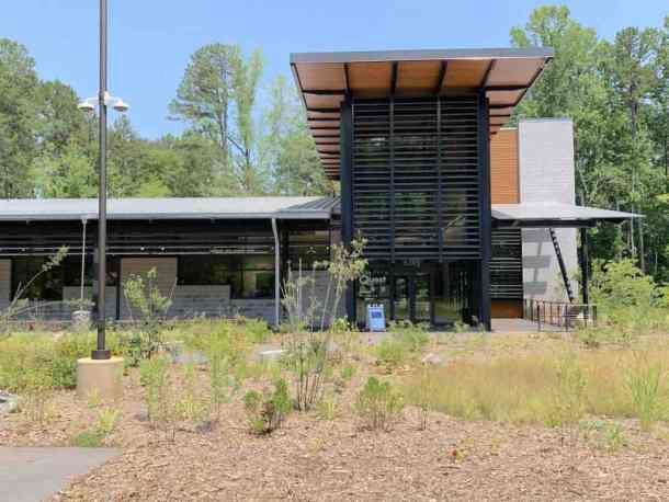 Exterior of Quest Nature Center in Huntersville, NC