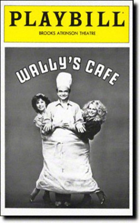 The Playbill from the 1981 Broadway production of Wally's Café