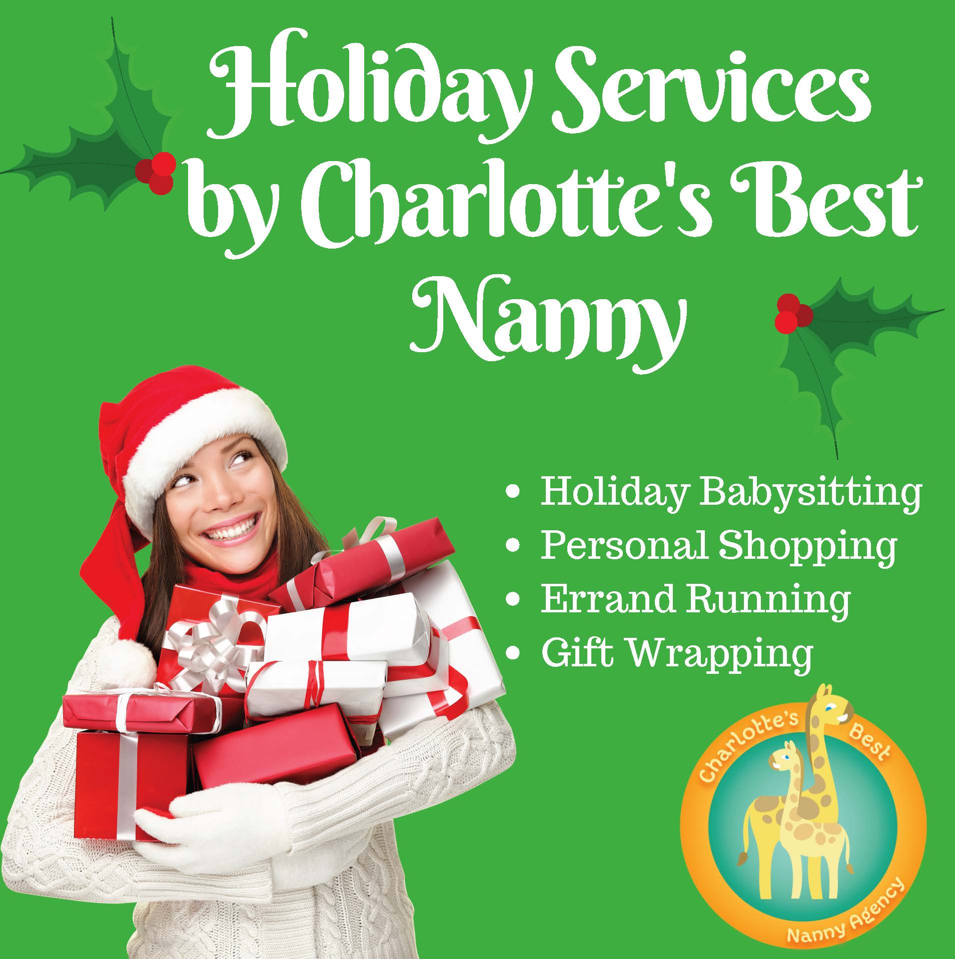 Holiday Services 2018 - Charlotte\'s Best Nanny Agency