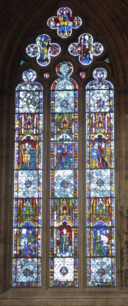 Stained Glass window in The York Minster, York, England October 2017