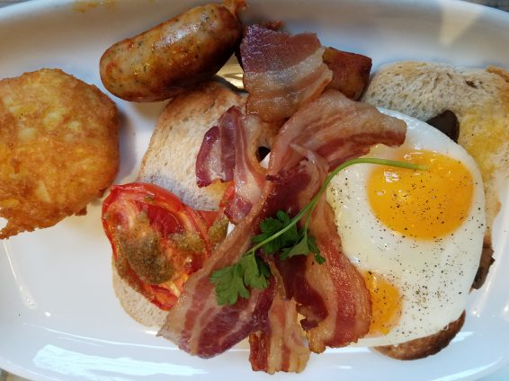 A full English breakfast at Bill's, 12 Coney St, York, England.