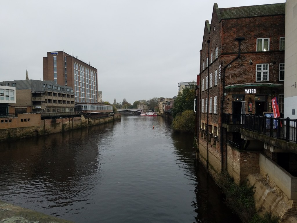 View of The Ouse River from Bridge Street, York, England