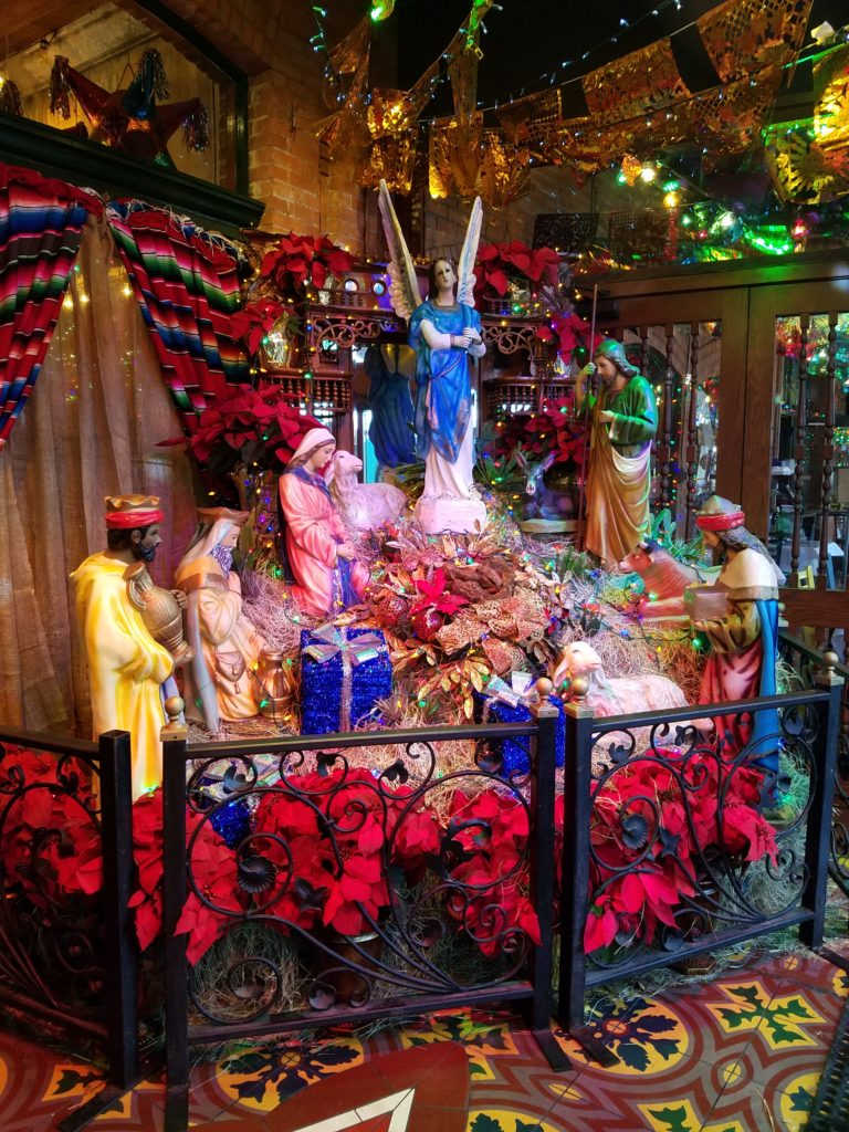Christmas decoration at the entrance of Mi Tierra.