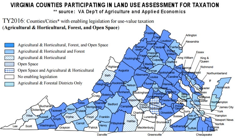 VA Land Use Counties for Taxation