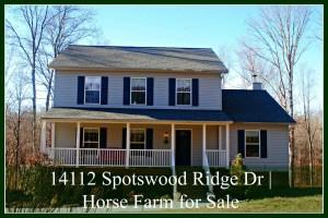 14112 Spotswood Ridge Dr | Horse Farm for Sale