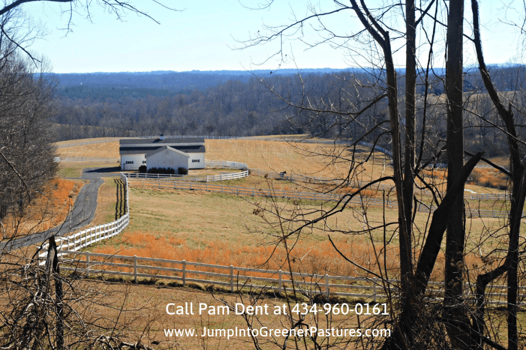 Equestrian Estates in Central Virginia - Peaceful rural setting with panoramic country views are yours to enjoy in this horse farm for sale in Central Virginia.