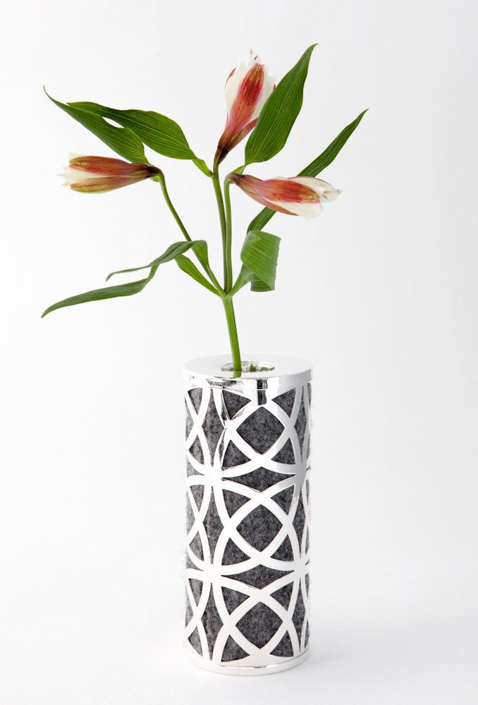 CIRCA Bud Vase in Silver Plated Finish
