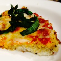 Herbed Cauliflower Crust Pizza