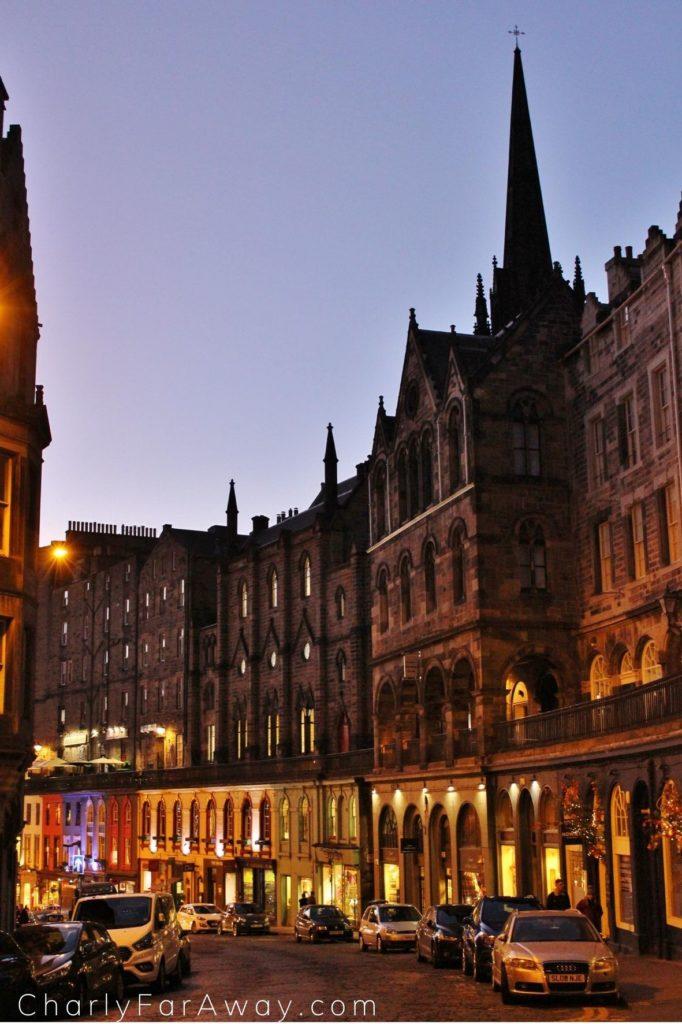 Edimbourg Old Town Victoria Street