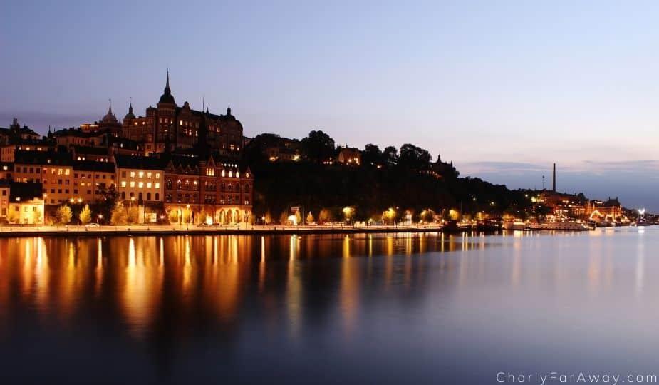 Stockholm coucher de soleil