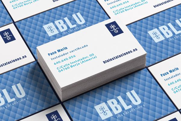Blu Instalaciones   diseño de logo