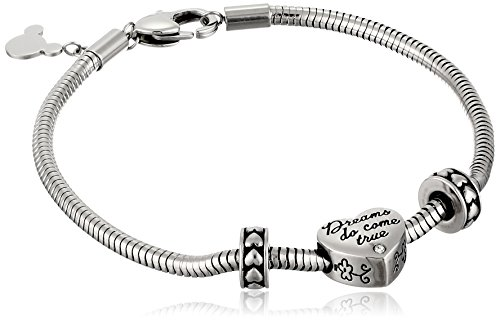 Sterling Silver 7 4.5mm Charm Bracelet With Attached 3D Wine Champagne Bottle Anniversary Charm