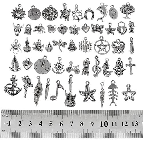 6Pcs Differnt Silver Seahorse Theme Pendant Charms Earring Finding Mixed lot