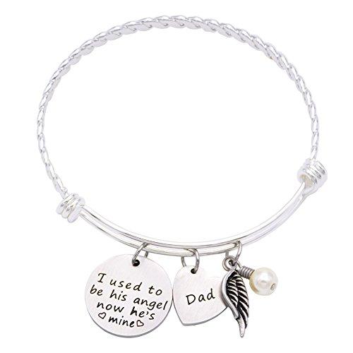 DiamondJewelryNY Double Loop Bangle Bracelet with a Immaculate Heart of Mary Charm.