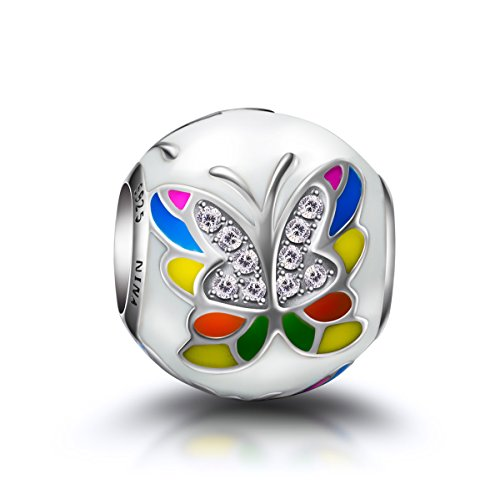 Beautiful Sterling silver 925 sterling Sterling Silver Enameled Multi Color Beach Ball Charm