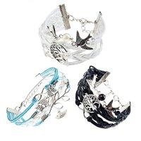 MJARTORIA Tree of Life Bird Infinity Charm Multilayer Rope BFF Friendship Wish Wrap Bracelets for 3