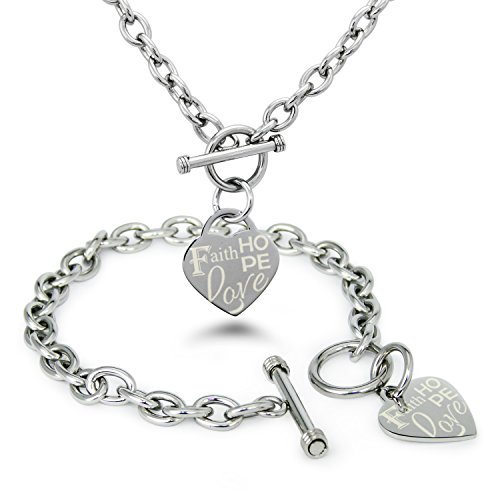 Rembrandt Sterling Silver Two-Tone Hope Tag Disc Charm on a Sterling Silver Rope Chain Necklace