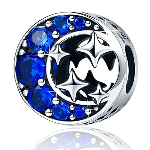 XingYue Jewelry 925 Sterling Silver Dream Catcher Charm Starfish Dangle Charms Bead Blue Lucky Star Charms Fit Bracelets