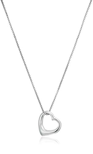 Tioneer Stainless Steel Letter D Initial 3D Monogram Floating Heart Tag Charm Pendant Necklace