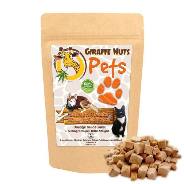 Giraffe Nuts Pets CBD Salmon Treats