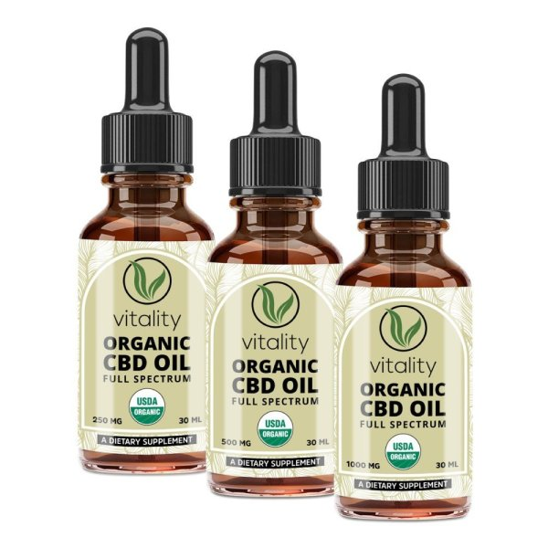 Vitality Organic Full Spectrum CBD Oil Tincture 500mg