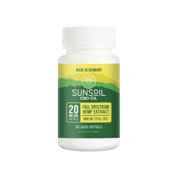 Sunsoil CBD Softgels 30ct