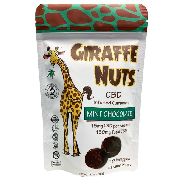Giraffe Nuts Pouch 15mg CBD Chocolate Caramels