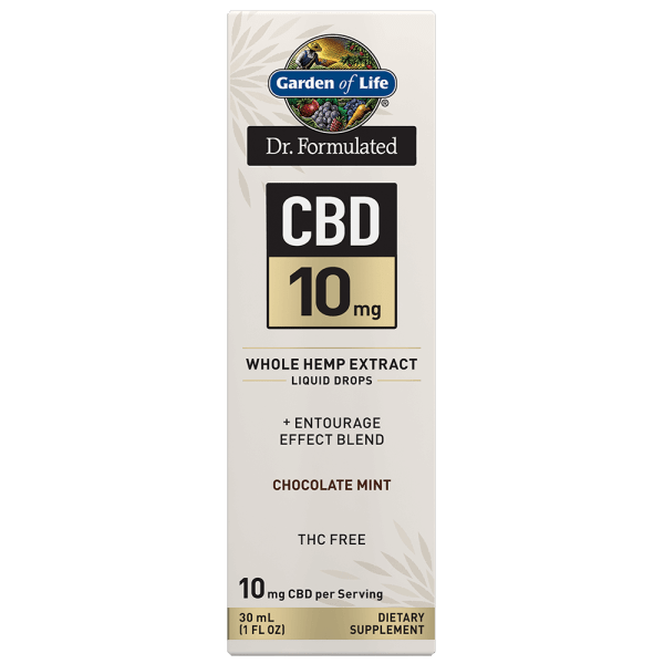 Garden Of Life CBD 10mg Choc Mint Whole Hemp Extract Liquid Drops