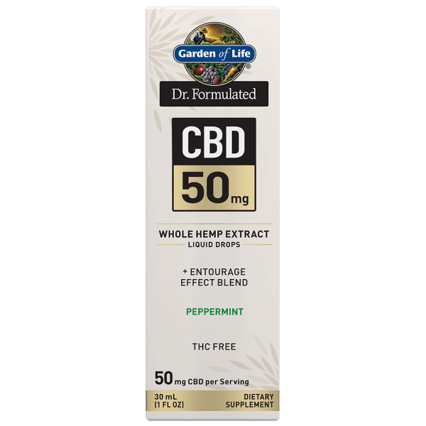 Garden of Life CBD 50mg Peppermint Tincture