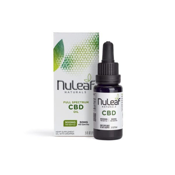 NuLeaf Naturals 900mg Full Spectrum Hemp CBD Oil, 15mL (60mg/mL)