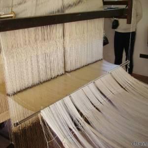 Antico telaio per la lavorazione della seta