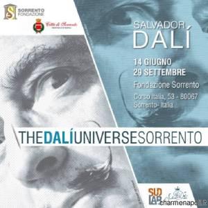 La locandina di Dalì a Sorrento