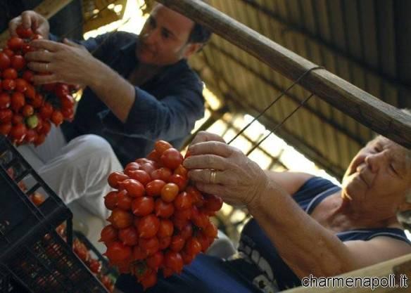Sapori Vesuviani  lavorazione familiare (Pasquale Imperato con la madre)