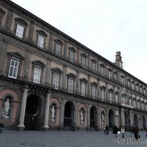 Palazzo reale, sede della Biblioteca Nazionale di Napoli