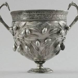 Coppa d'argento per bere