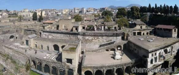 Ercolano, panoramica delle antiche rovine