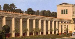 Ricostruzione virtuale della Villa dei Papiri di Ercolano