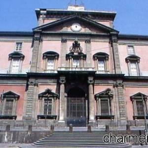 L'imponente facciata del Museo Archeologico di Napoli