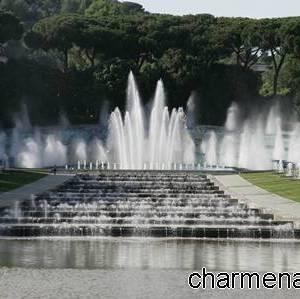 Lo spettacolo della fontana dell'Esedra