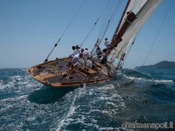 A bordo della barca a vela