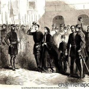 Re Francesco II lascia Gaeta