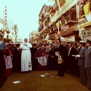 Le immagini della prima visita a Pompei di Papa Wojtyla (21 ottobre 1979)