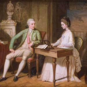 Sir William Hamilton e la moglie Catherine