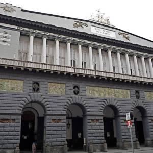 La facciata del San Carlo