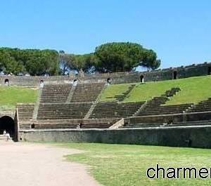 L'area interna dell'Anfiteatro romano di Pompei